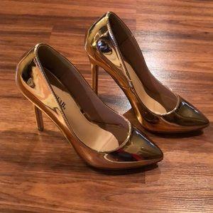 JustFab Rosegold Heels